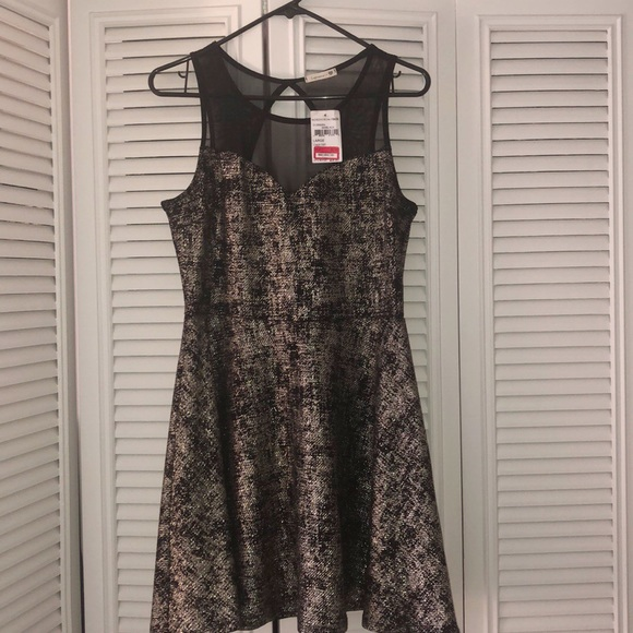 Nordstrom Dresses & Skirts - BRAND NEW WITH TAGS!!! GOLD AND BLACK SKATER DRESS